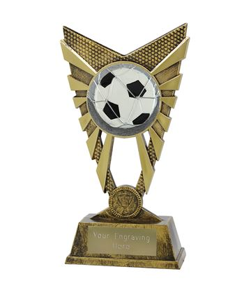 "Valiant Football Trophy Gold 23cm (9"")"