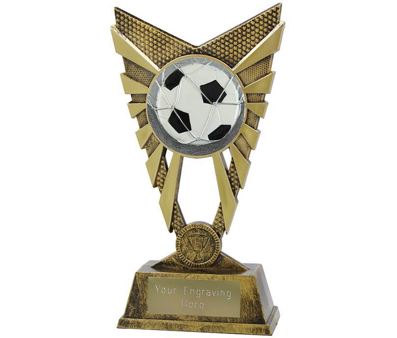 "Valiant Football Trophy Gold 23cm (9"")"