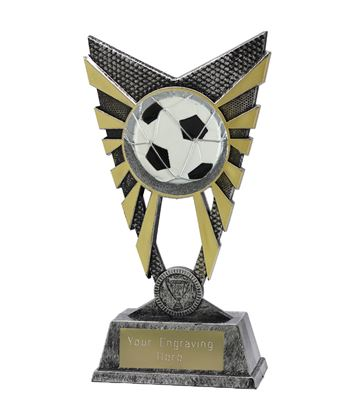 "Valiant Football Trophy Silver 23cm (9"")"
