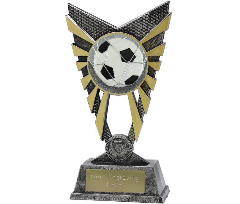 "Valiant Football Trophy Silver 23cm (9"")"
