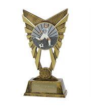 "Valiant Footballer Gold Trophy 23cm (9"")"