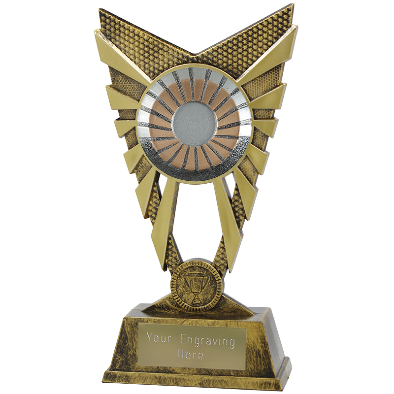 "Valiant 25mm Centre Heavyweight Gold Trophy 23cm (9"")"