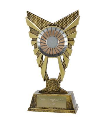 "Valiant 25mm Centre Gold Trophy 23cm (9"")"