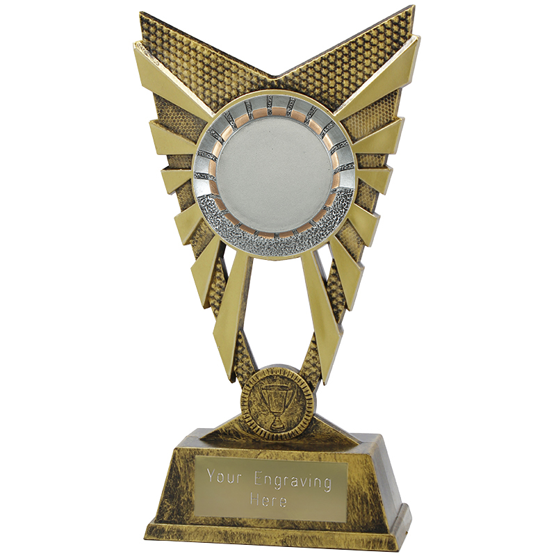 "Valiant 50mm Centre Heavyweight Gold Trophy 23cm (9"")"