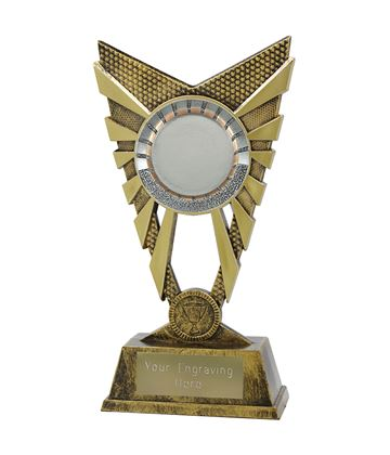 "Valiant 50mm Centre Gold Trophy 23cm (9"")"