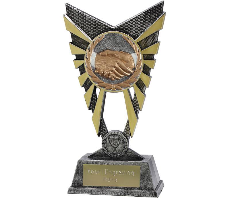 "Valiant Handshake Silver Trophy 23cm (9"")"
