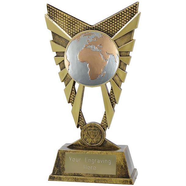 "Valiant Globe Trophy Gold 23cm (9"")"