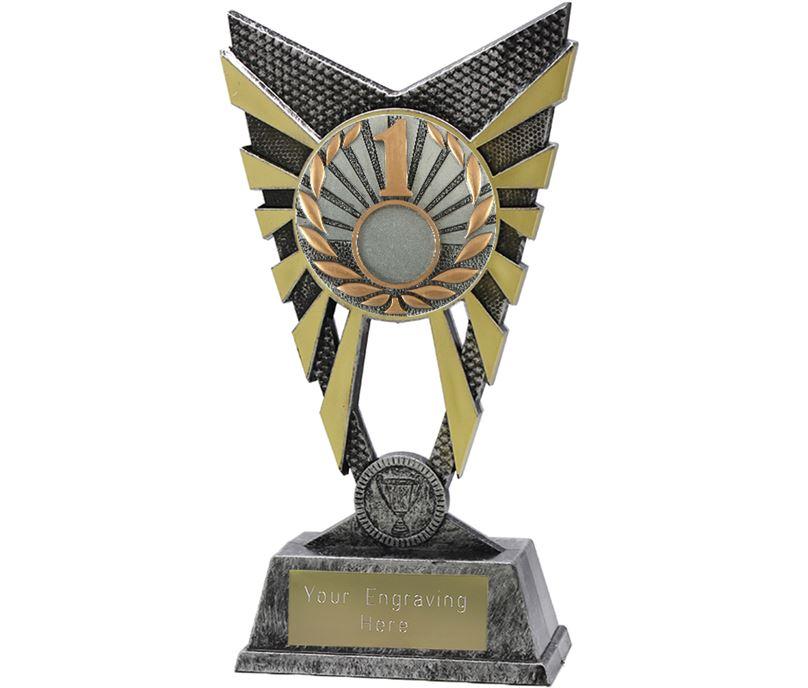 """Valiant 1st Place Trophy Silver 23cm (9"""")"""