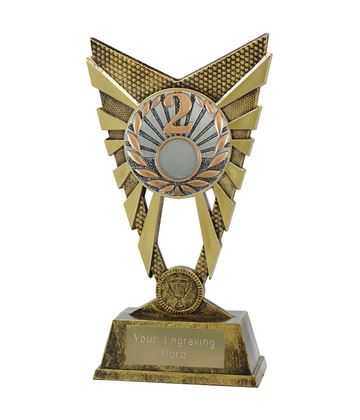 "Valiant 2nd Place Trophy Gold 23cm (9"")"