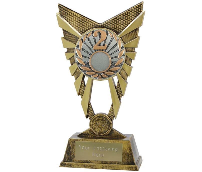 "Valiant 2nd Place Trophy Gold 23cm (9"")"