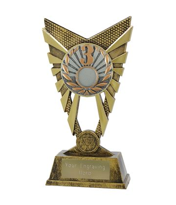 "Valiant 3rd Place Trophy Gold 23cm (9"")"
