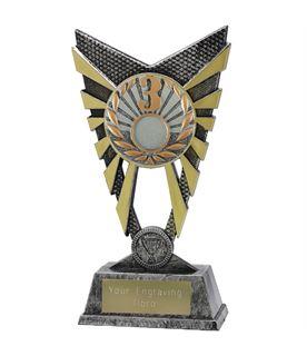 "Valiant 3rd Place Trophy Silver 23cm (9"")"