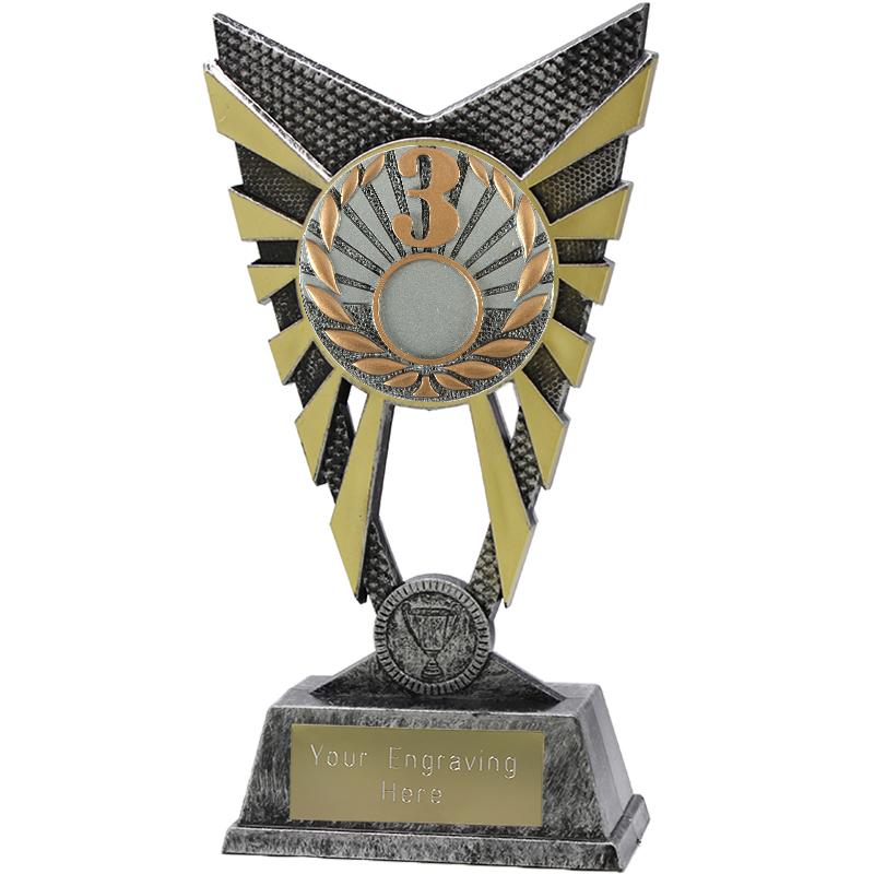 "Valiant 3rd Place Heavyweight Trophy Silver 23cm (9"")"