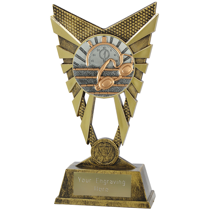 "Valiant Swimming Heavyweight Trophy Gold 23cm (9"")"