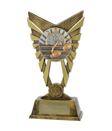 "Valiant Swimming Trophy Gold 23cm (9"")"