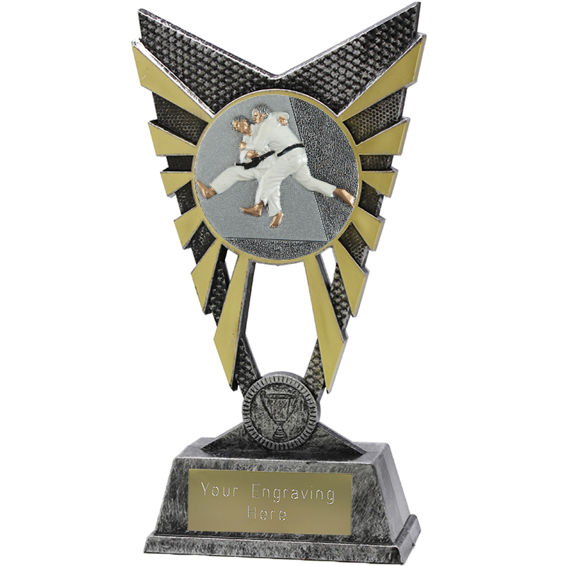 "Valiant Judo Heavyweight Trophy Silver 23cm (9"")"