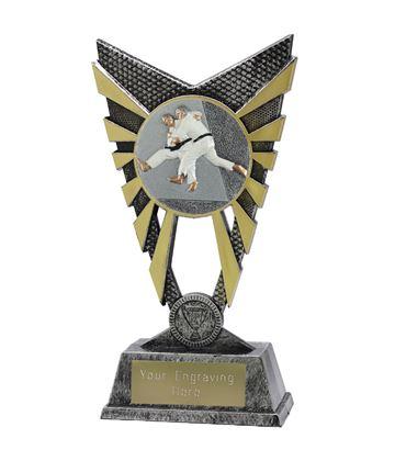 """Valiant Judo Trophy Silver 23cm (9"""")"""