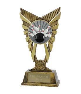 "Valiant Tenpin Bowling Trophy Gold 23cm (9"")"
