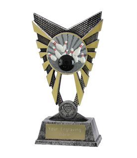 "Valiant Tenpin Bowling Trophy Silver 23cm (9"")"