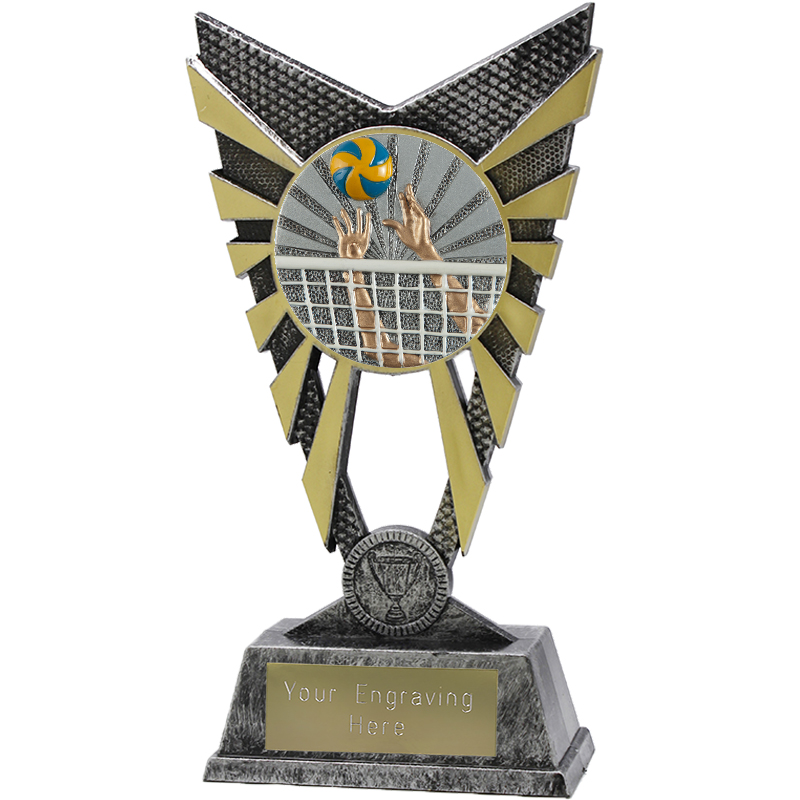 "Valiant Volleyball Heavyweight Trophy Silver 23cm (9"")"