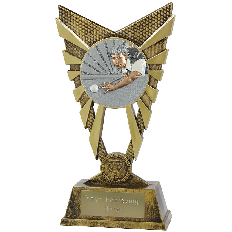 "Valiant Snooker Player Heavyweight Trophy Gold 23cm (9"")"