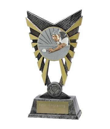 """Valiant Snooker Player Trophy Silver 23cm (9"""")"""