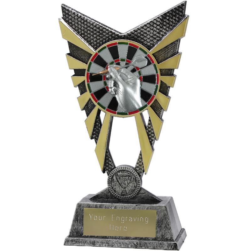 """Valiant Darts Heavyweight Trophy Silver 23cm (9"""")"""