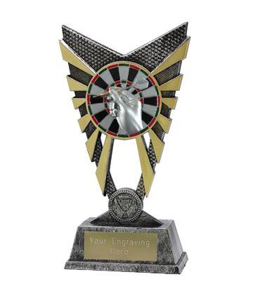 "Valiant Darts Trophy Silver 23cm (9"")"