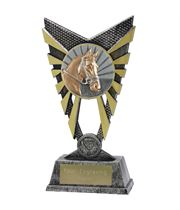 "Valiant Horse Trophy Silver 23cm (9"")"