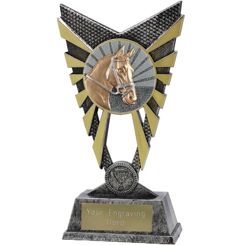 "Valiant Horse Heavyweight Trophy Silver 23cm (9"")"