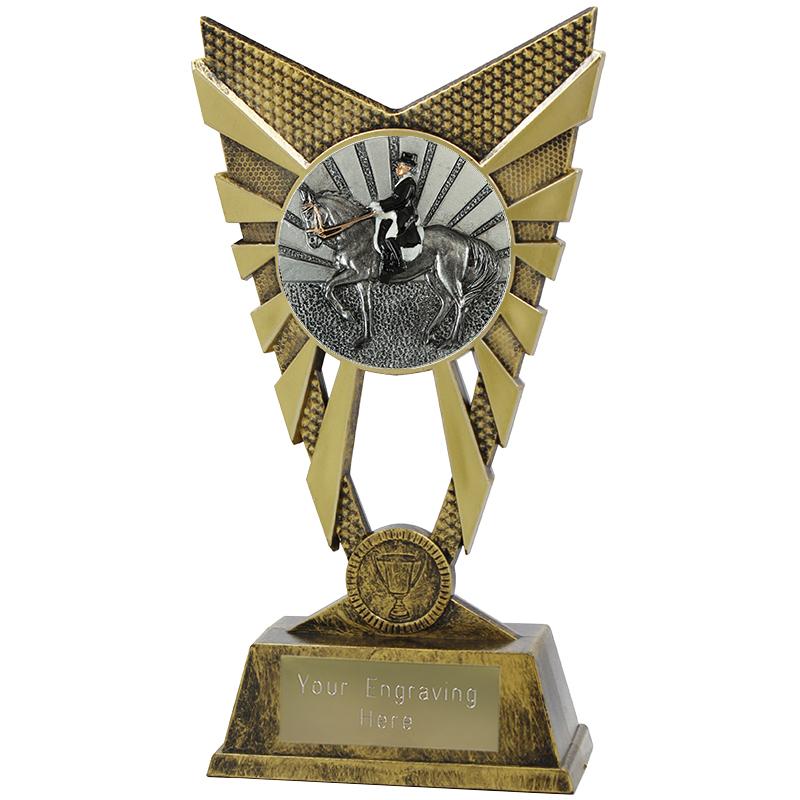 "Valiant Dressage Heavyweight Trophy Gold 23cm (9"")"