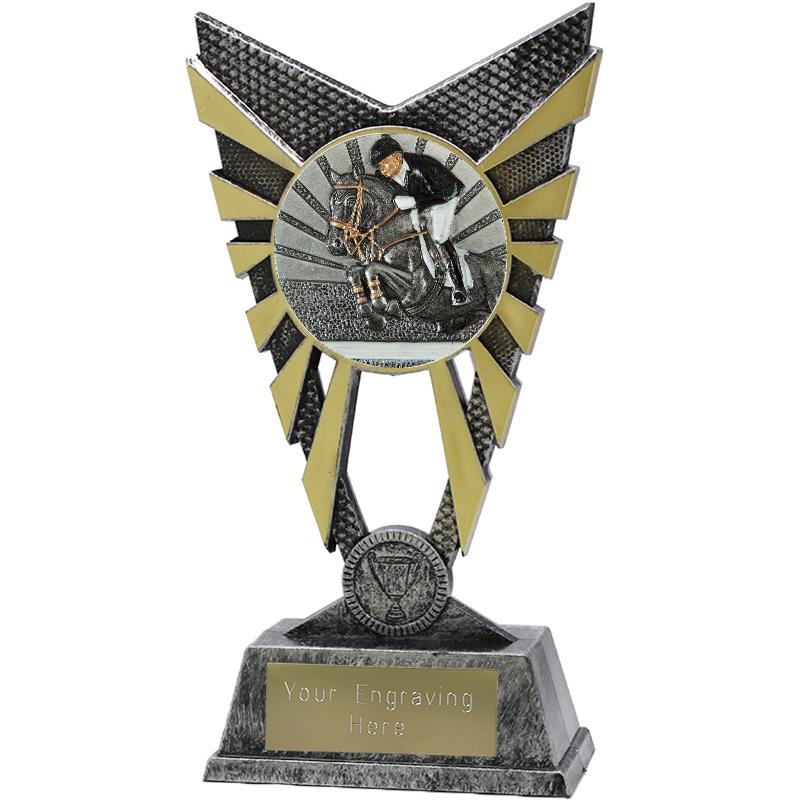 "Valiant Show Jumping Heavyweight Trophy Silver 23cm (9"")"