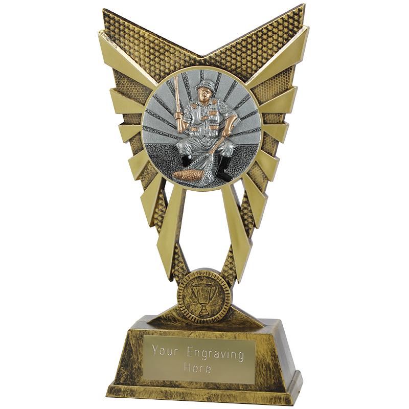 "Valiant Fishing Heavyweight Trophy Gold 23cm (9"")"