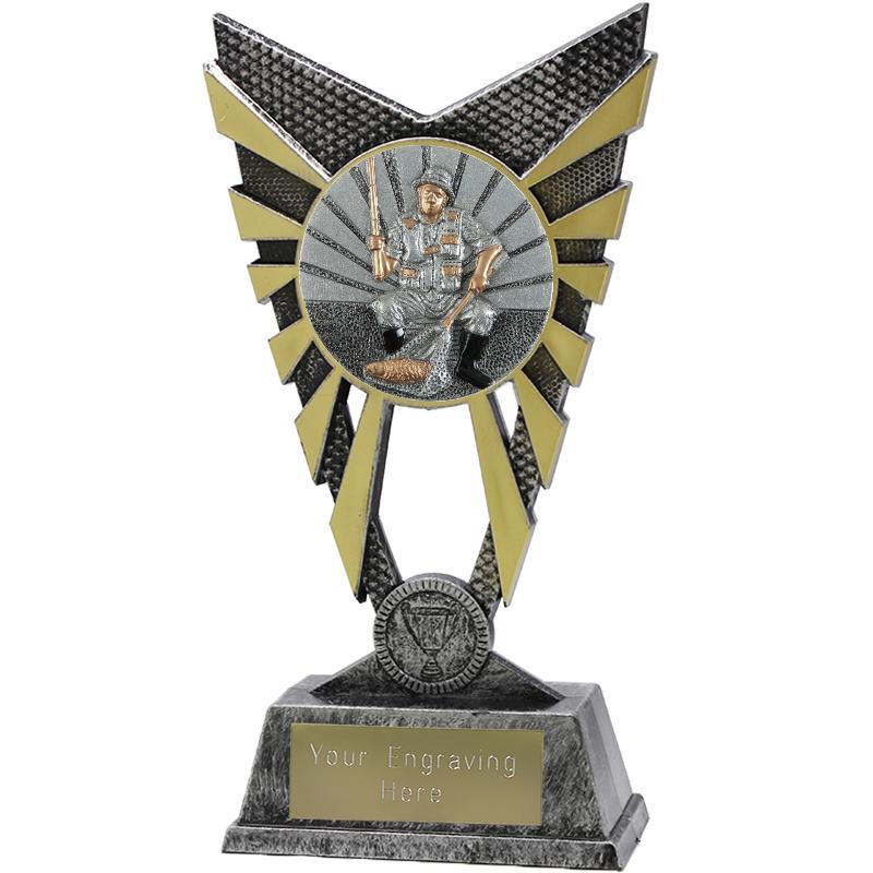 "Valiant Fishing Heavyweight Trophy Silver 23cm (9"")"