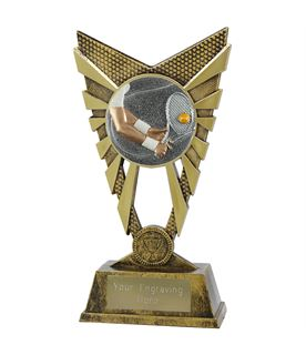 "Valiant Tennis Trophy Gold 23cm (9"")"