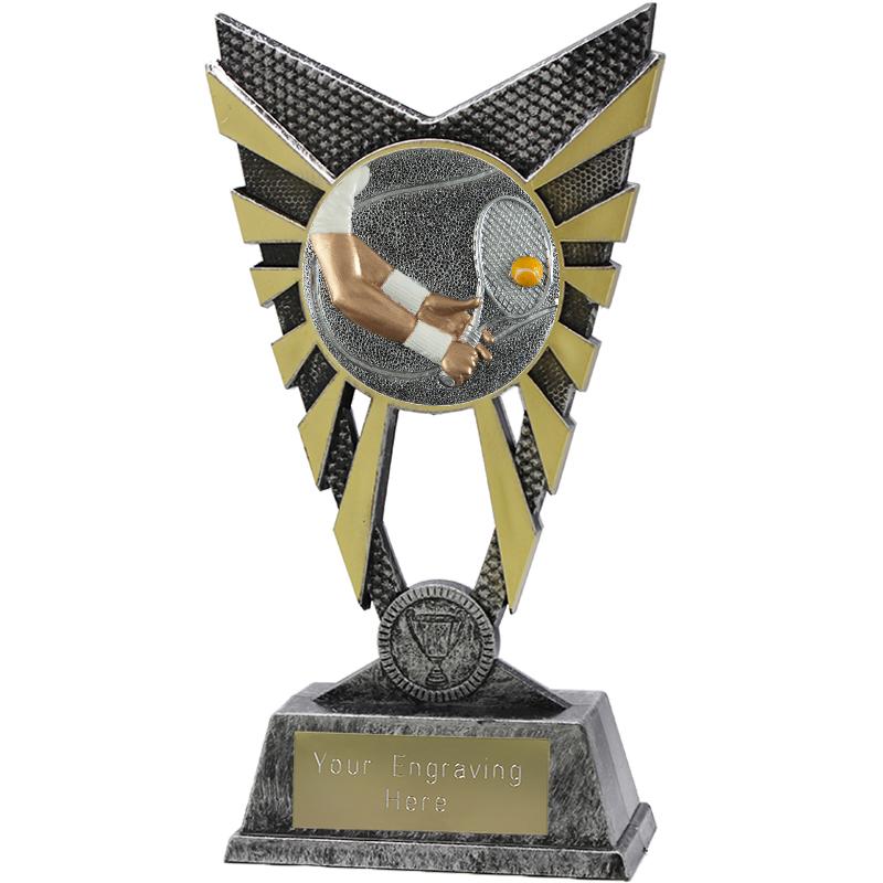 """Valiant Tennis Heavyweight Trophy Silver 23cm (9"""")"""