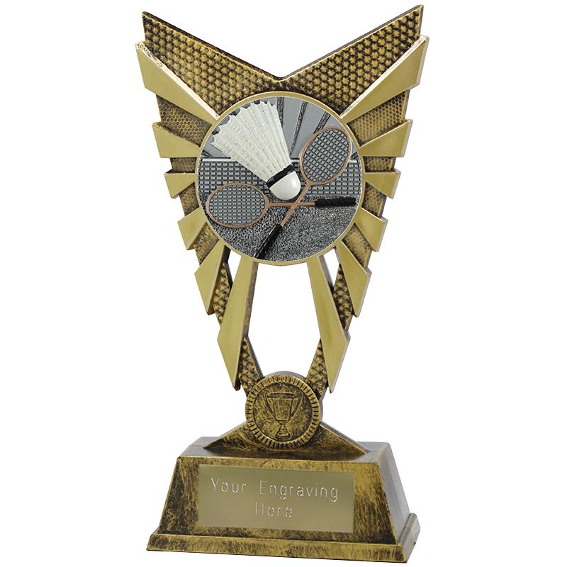 "Valiant Badminton Heavyweight Trophy Gold 23cm (9"")"