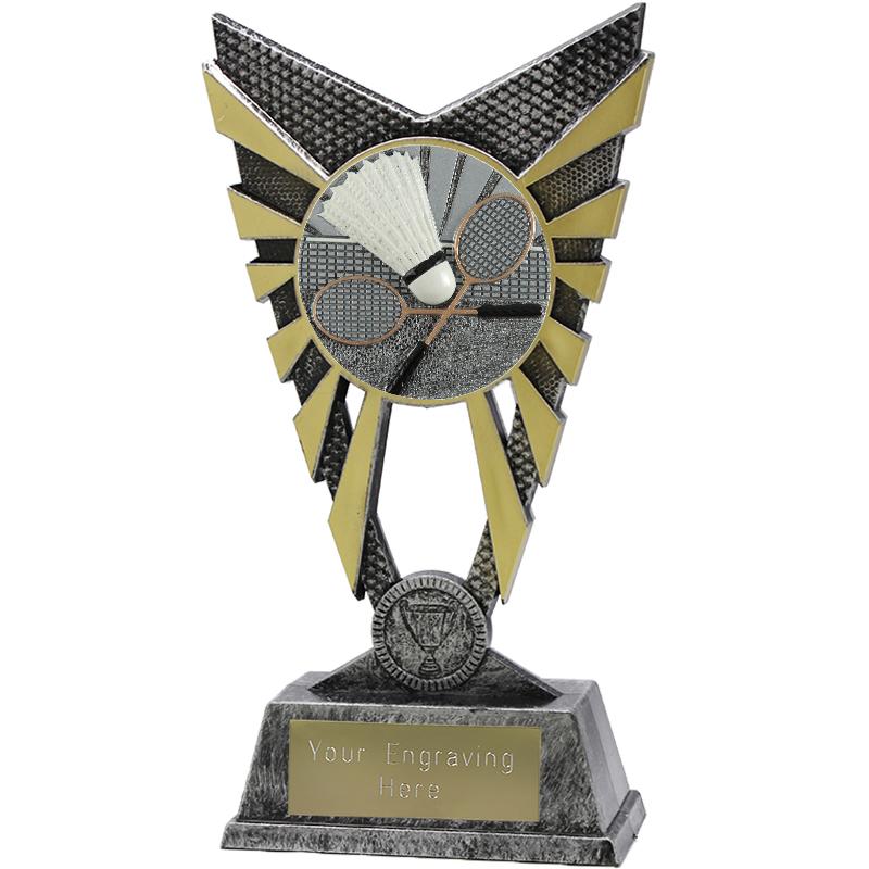 "Valiant Badminton Heavyweight Trophy Silver 23cm (9"")"