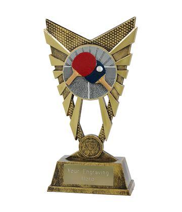 "Valiant Table Tennis Trophy Gold 23cm (9"")"