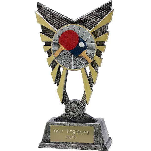 "Valiant Table Tennis Trophy Silver 23cm (9"")"