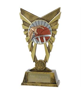 "Valiant Basketball Trophy Gold 23cm (9"")"