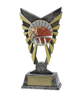 "Valiant Basketball Trophy Silver 23cm (9"")"