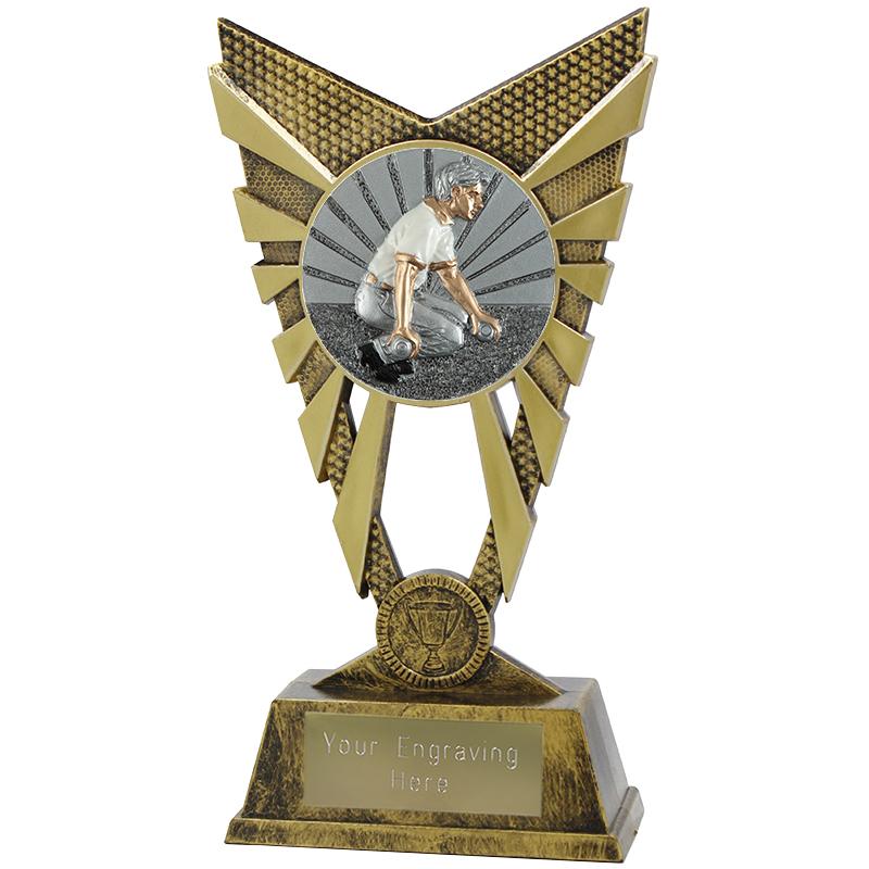 "Valiant Bowls Heavyweight Trophy Gold 23cm (9"")"