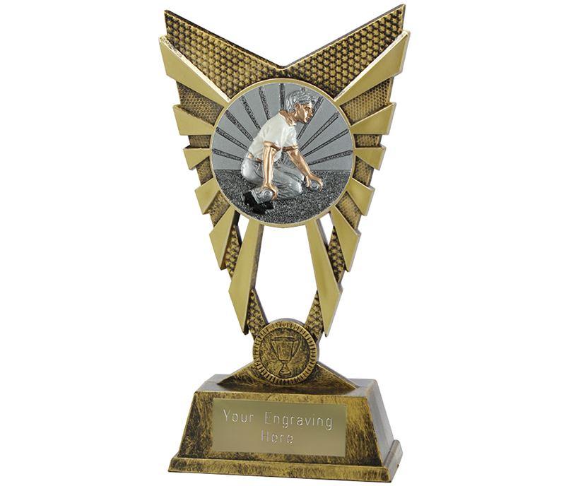 """Valiant Bowls Trophy Gold 23cm (9"""")"""