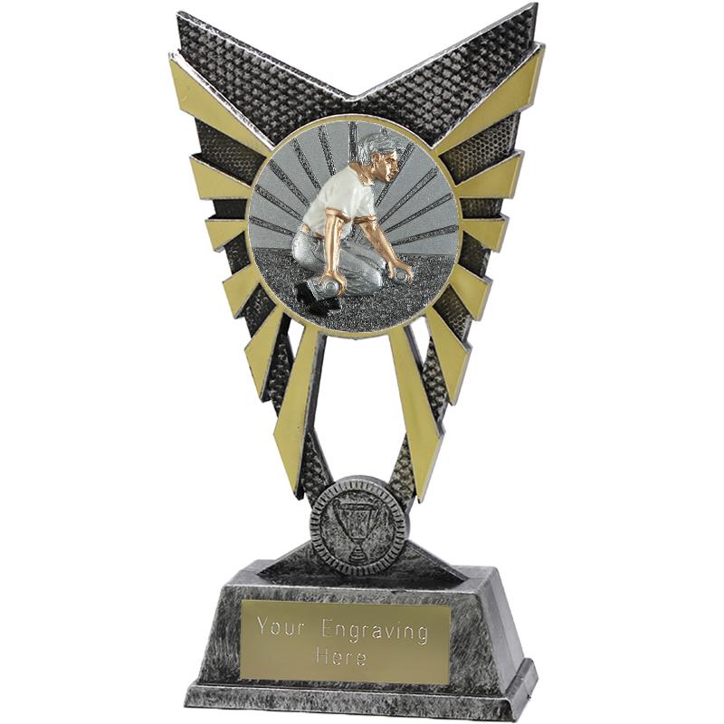 """Valiant Bowls Heavyweight Trophy Silver 23cm (9"""")"""