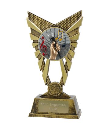 "Valiant Music Trophy Gold 23cm (9"")"
