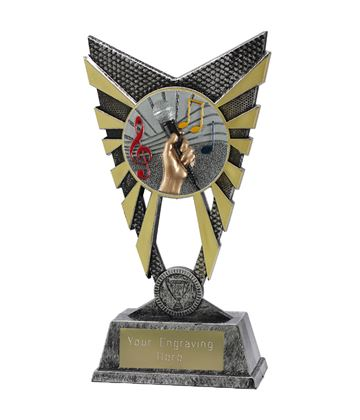 "Valiant Music Trophy Silver 23cm (9"")"