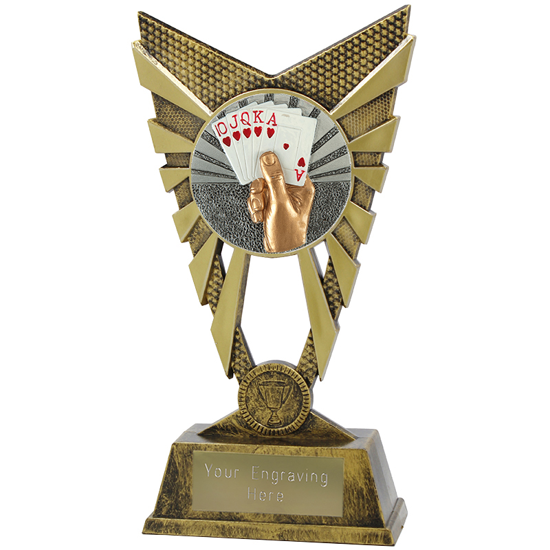 "Valiant Cards Heavyweight Trophy Gold 23cm (9"")"