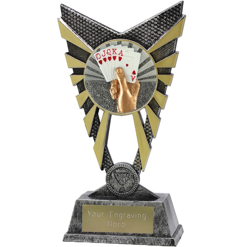 "Valiant Cards Heavyweight Trophy Silver 23cm (9"")"
