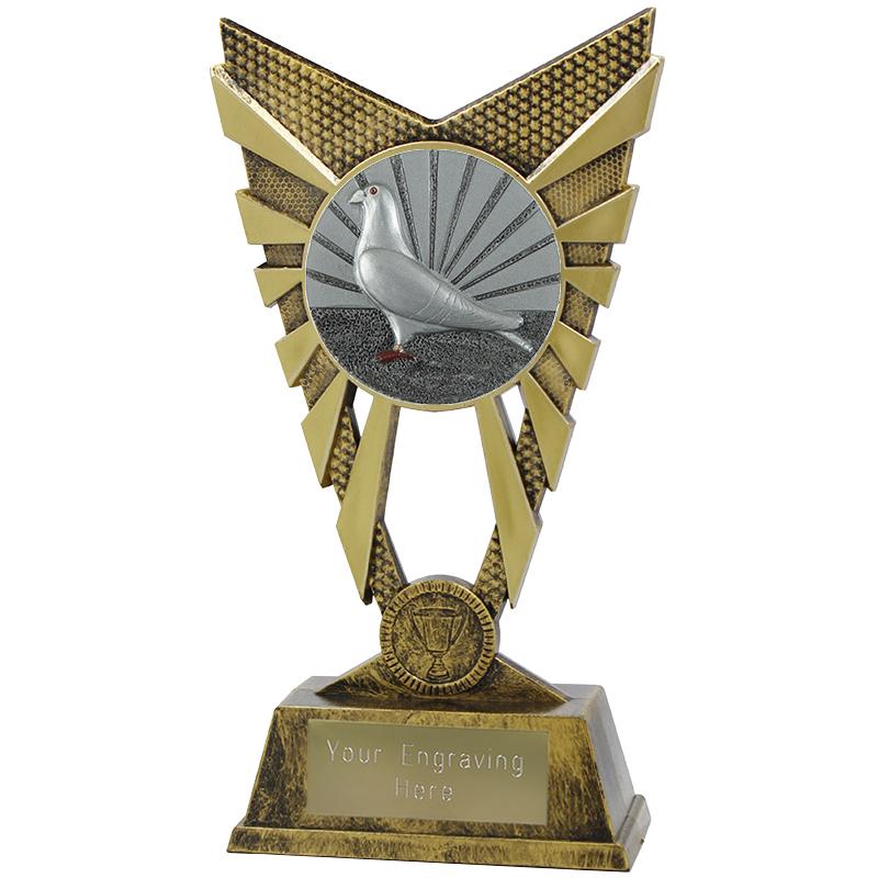 "Valiant Pigeon Racing Heavyweight Trophy Gold 23cm (9"")"